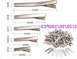 1 10 50 100PCS Small Medium Lot Silver Crocodile Alligator B