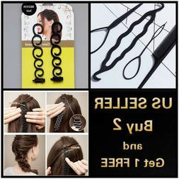 1/2/4/5/6/11 PCs Hair French Braid Clip Magic Styling Stick
