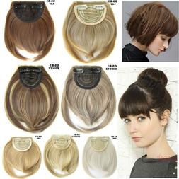 1/2Pcs Side Bangs Clip on Neat Bang Fringes Clip in Hair Ext