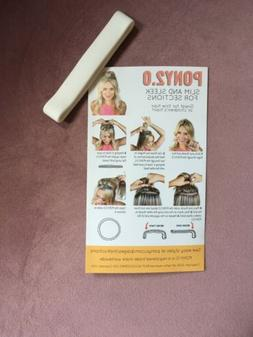 ONE PONY-O 2.0 Hair Tie Band Clip NEW!  ** White**