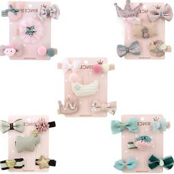 1 set/5 pcs Girls Lovely Hair Accessories Set Animal Hairgri