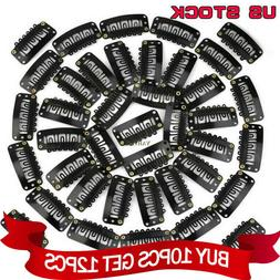 10/30/50/100PCS Snap Clips for Human Hair Extensions Weft Gr