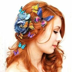 10 Pcs Butterfly Hair Clips Bridal Hair Accessories Wedding