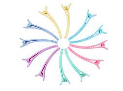Rioa 10 Pcs Hair Clips Professional Non-Slip Multicolor Plas