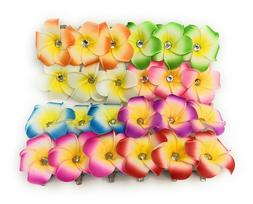 10 PCS Hawaiian Plumeria Flower Foam Hair Clip Fashion Hair
