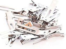 100 Double Prong Alligator Hair Clips/Barrettes. 1 3/4 in .