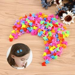 100Pcs Butterfly Hair Clips Claw Barrettes Mini Jaw Clip Hai
