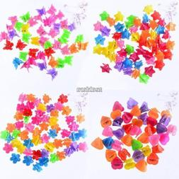100 PCS Kids Baby Girls Candy Colour Hairpins Mini Claw Hair
