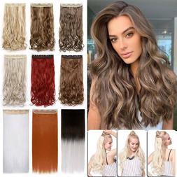 100% Thick As Real Human Hair Clip in Full Head Long Hair Ex