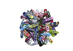 100pc 2 snap hair clips metal hair