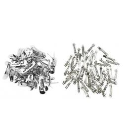 100pcs 50mm FRENCH BARRETTE SILVER HAIR CLIPS SLIDES & 20mm