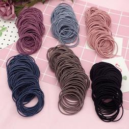 100PCS Elastic Women Girls Hair Band Ties Rope Ring Hairband