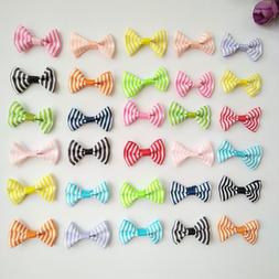 10pcs 1.4Inch Tiny Hair Bows Clips Fully Lined for Baby Girl