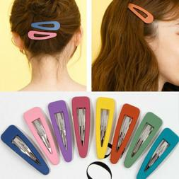 10Pcs Fashion Women Candy Color Hair Clip Hairpin Snap Barre
