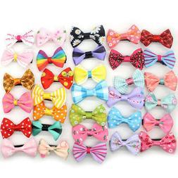 10pcs/lot Mixed Bow Kids Children Girls ribbon Hair Clip Duc