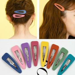 10Pcs/Pack Candy Color Hairpins Snap Hair Clip for Kids Girl