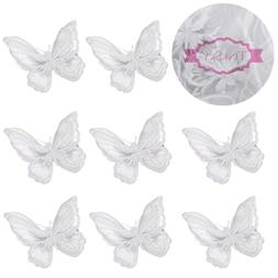 Tinksky 10pcs Women Girls Lace Embroidery Butterfly Hair Cli