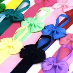 10x Kids Girl Hair Bow Grosgrain Ribbon Baby Hair Clip Holde