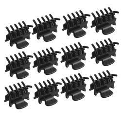 12 Pcs 2.8 CM Long Black Plastic Mini Hairpin 10 <font><b>Cl