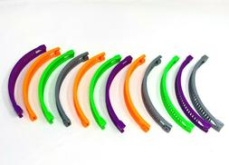 12 pcs Banana Hair Clip Claw Comb Multi-color.
