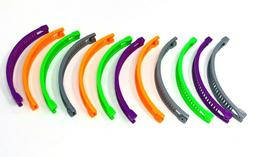 12 pcs Banana Hair Clip Claw Comb choose color .
