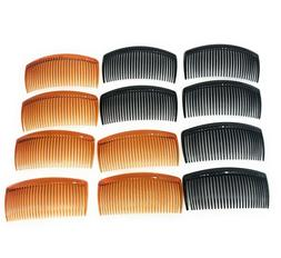 12 pcs Combs Plastic Hair Clips Side The Color Pick up .