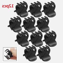 12 Pcs Fasion Black Plastic Mini Hairpin 6 Claws Women's Hai
