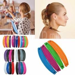 12 pieces COLORFUL VINTAGE COMB BANANA CLIP HAIR RISER CLAW