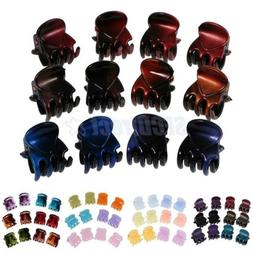 12 Pieces Multi Color Mini Small Hair Clips Claws Clamps Hai