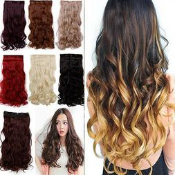 "120-200g 17-30"" Long Clip in Full Head hair Extensions as re"