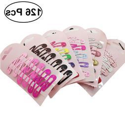 126pcs Snap Hair Clips for Hair Clip Pins BB Hairpin Color M