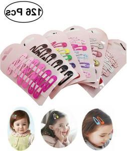 126x Snap Hair Clips Hair Clip Pins BB Hairpins Color Metal