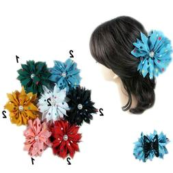 12pc Double Sided Polka Dot Hair Clip Claw Jaw Pin Updo Comb