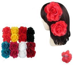 12pcs Flower Hairpin Bridal Hair Clip Rose Flower Wedding Pa