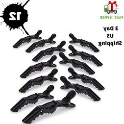 12PCS Salon Croc Hair Styling Clips-Sectioning Alligator Hai