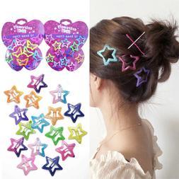 12PCS/Set Pentagram Butterfly Hair Clips Glitter Asymptotic