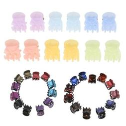 12x Mini Jaw Clips Hair Claw Clips for Girls No-Slip Grip Sm