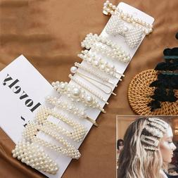 13Pcs/set Pearl Hair Clip Barrettes 2019 Fashion for Women H