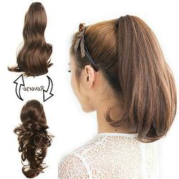 OneDor 15 Inch Dual Use Curly Hair Synthetic Claw Clip Ponyt