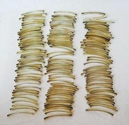 150 + Barrettes Gold-Tone Crafts Plain Metal Hair Clip 2.25""