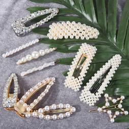 85 Styles Diamante Crystal Pearl Bead Flower Barrette Hair C