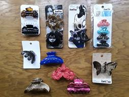18 Clips Jaw Hair Clips Yumark Scunci assorted size style co