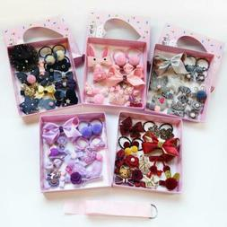 18Pcs/set Hairpin Baby Girl Hair Clip Bow Flower Mini Barret