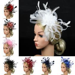 1920s Women Hair Accessories Flower Feather Hair Clip Headwe