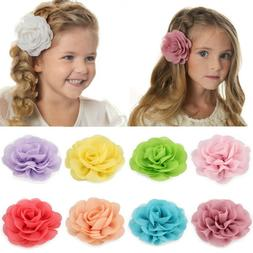 1PC Big Chiffon Flower Hair Clip Alligator Hairpin Barrette