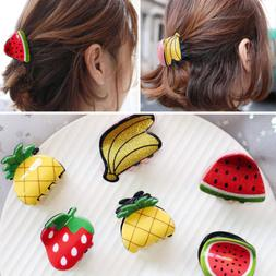 Fashion Women Cute Hair Claws Clip Hairpin Mini Fruit Shape