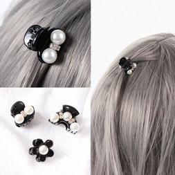 1PC Small Pearls Crystal Rhinestone Mini Hair Claw Hair Clip