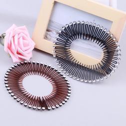 1pc Women Fashion Stretch Hair Clip Band Headband Black or B