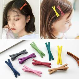1Pcs Cute Kids Girls Hair Pins Frosted Snap Hair Clip Girl B