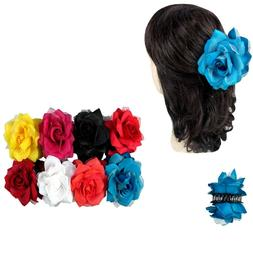 2 pc Women Double Sided Rose Hair Clip Claw Jaw Pin Comb Ban